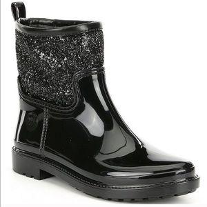 🆕MICHAEL KORS Flannel Lined Glitter Rain Boot